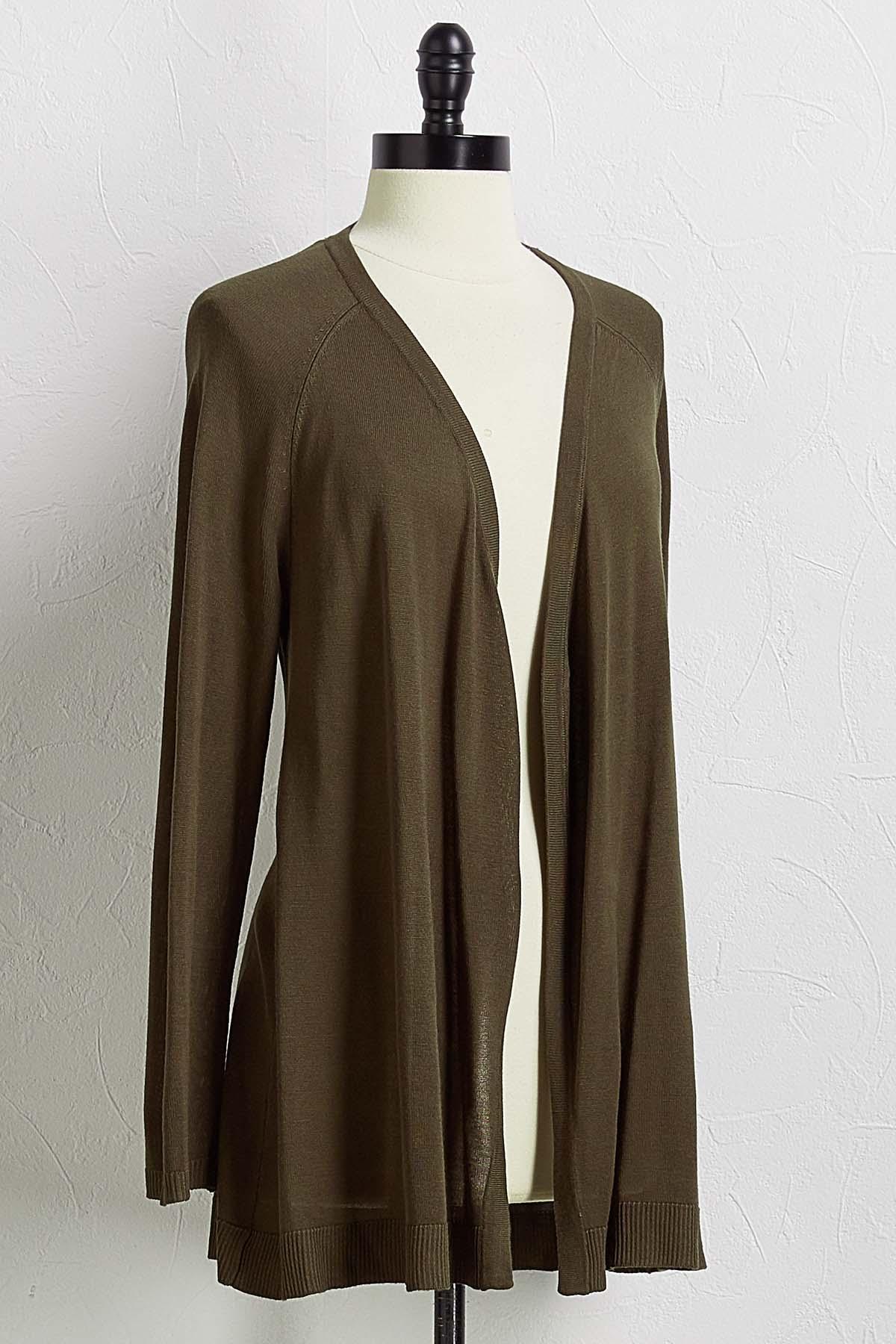 Olive Cardigan Sweater