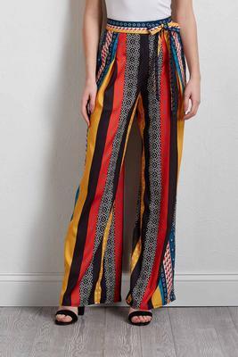 spirited stripe palazzo pants