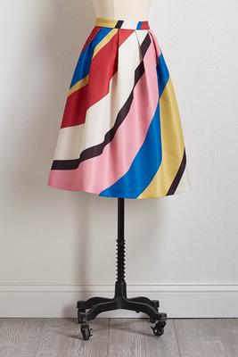 wonderland striped midi skirt