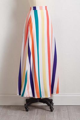 cheerful stripe maxi skirt