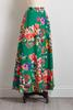 Painted Floral Maxi Skirt