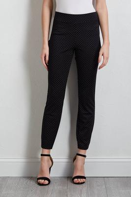 dotted pull-on pants