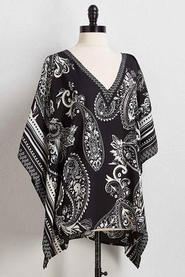 black and white paisley kimono