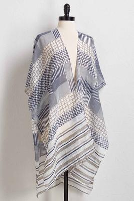 checks and stripes kimono