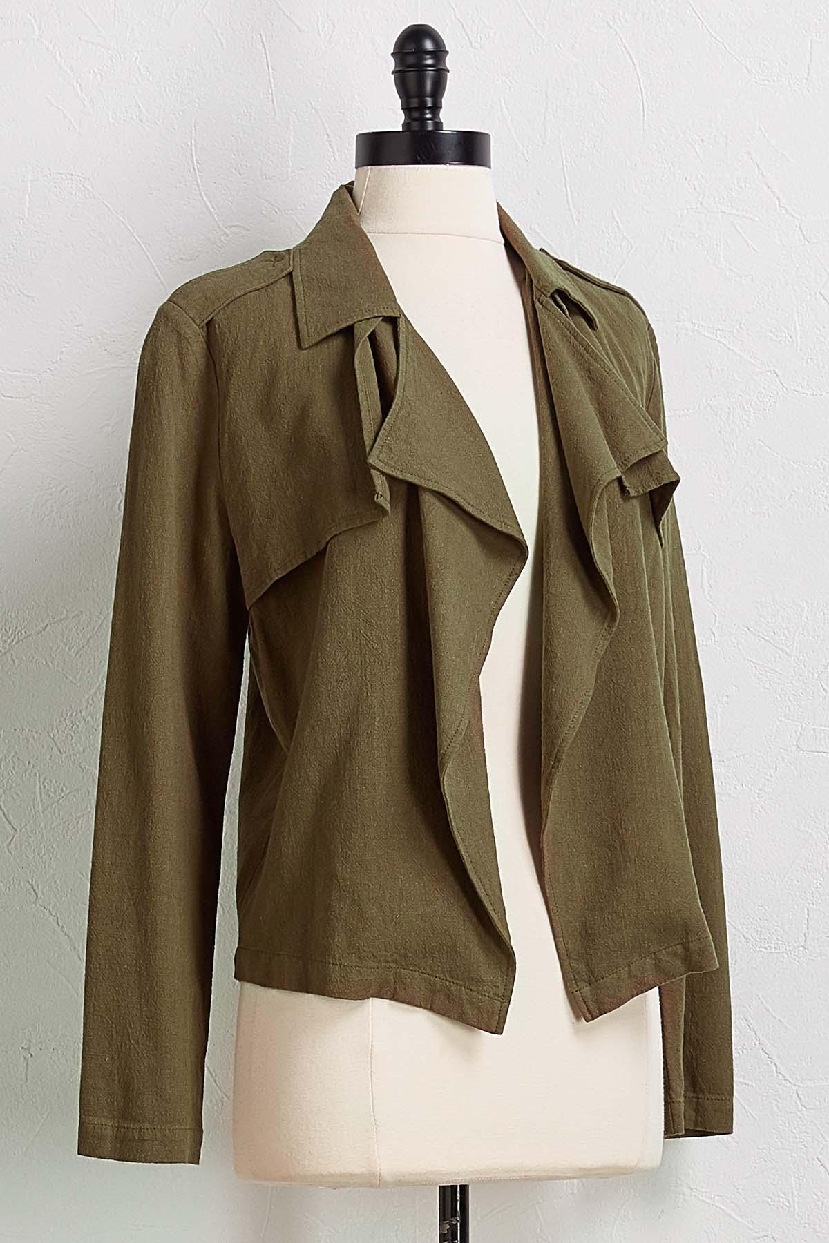 Draped Linen Jacket