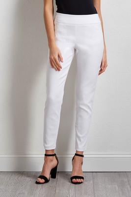diamond jacquard slim leg ankle pants