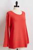 Ribbed Flare Sleeve Tunic