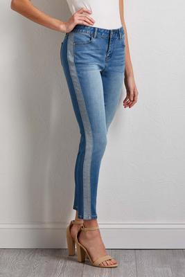 two-toned skinny jeans