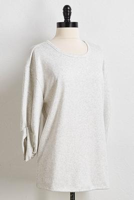 fleece lined sweatshirt