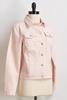 Pink Stripe Denim Jacket