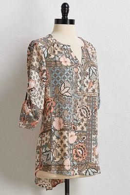 patchwork paisley and floral top