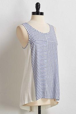 denim stripe tank