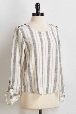 natural textured stripe top