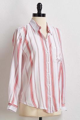red stripe boyfriend shirt