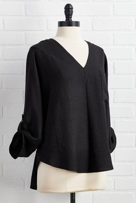 solid high-low pullover top