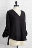 Solid High- Low Pullover Top