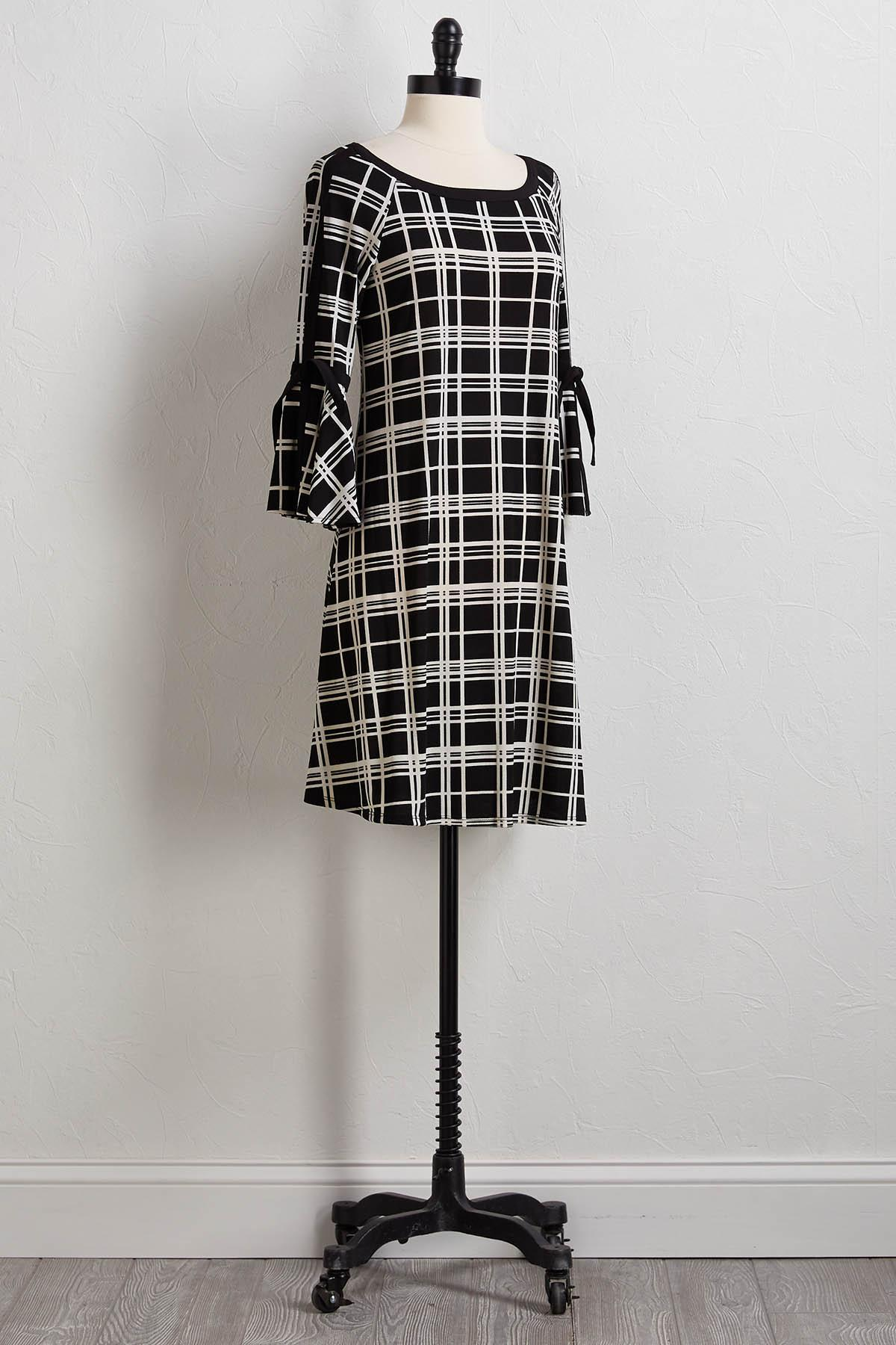 Windowpane Swing Dress