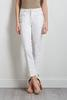 White Pintucked Jeans