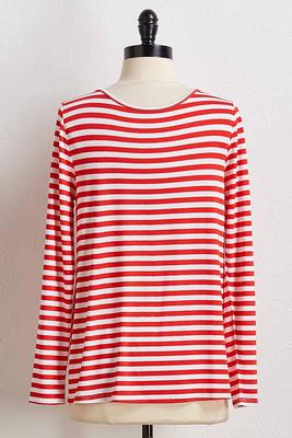 stripe knit tee