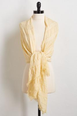 peach oblong scarf