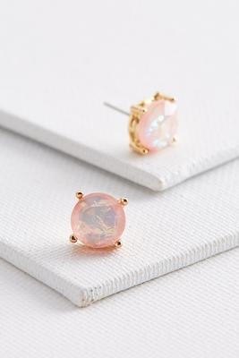 foiled stone stud earrings