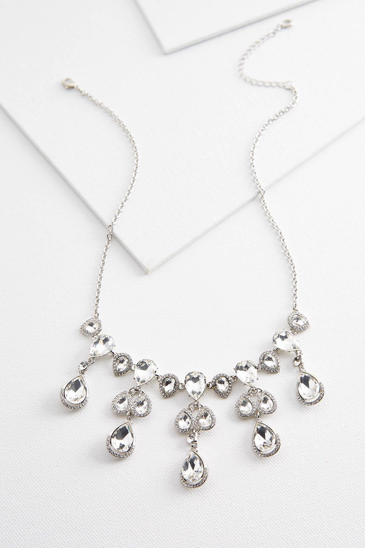 Dangling Stone Bib Necklace