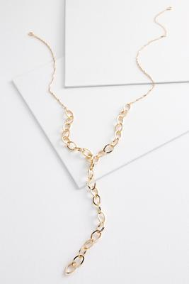 chain link y-necklace