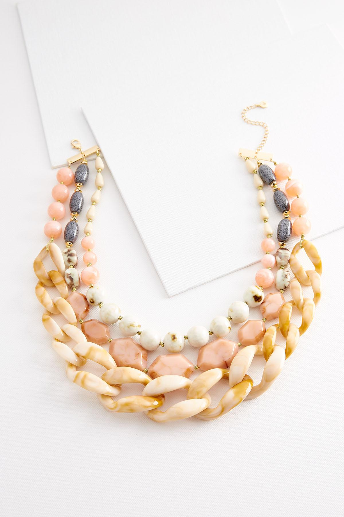 Layered Resin Bead Necklace