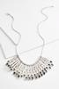 Textured Metal Bib Necklace