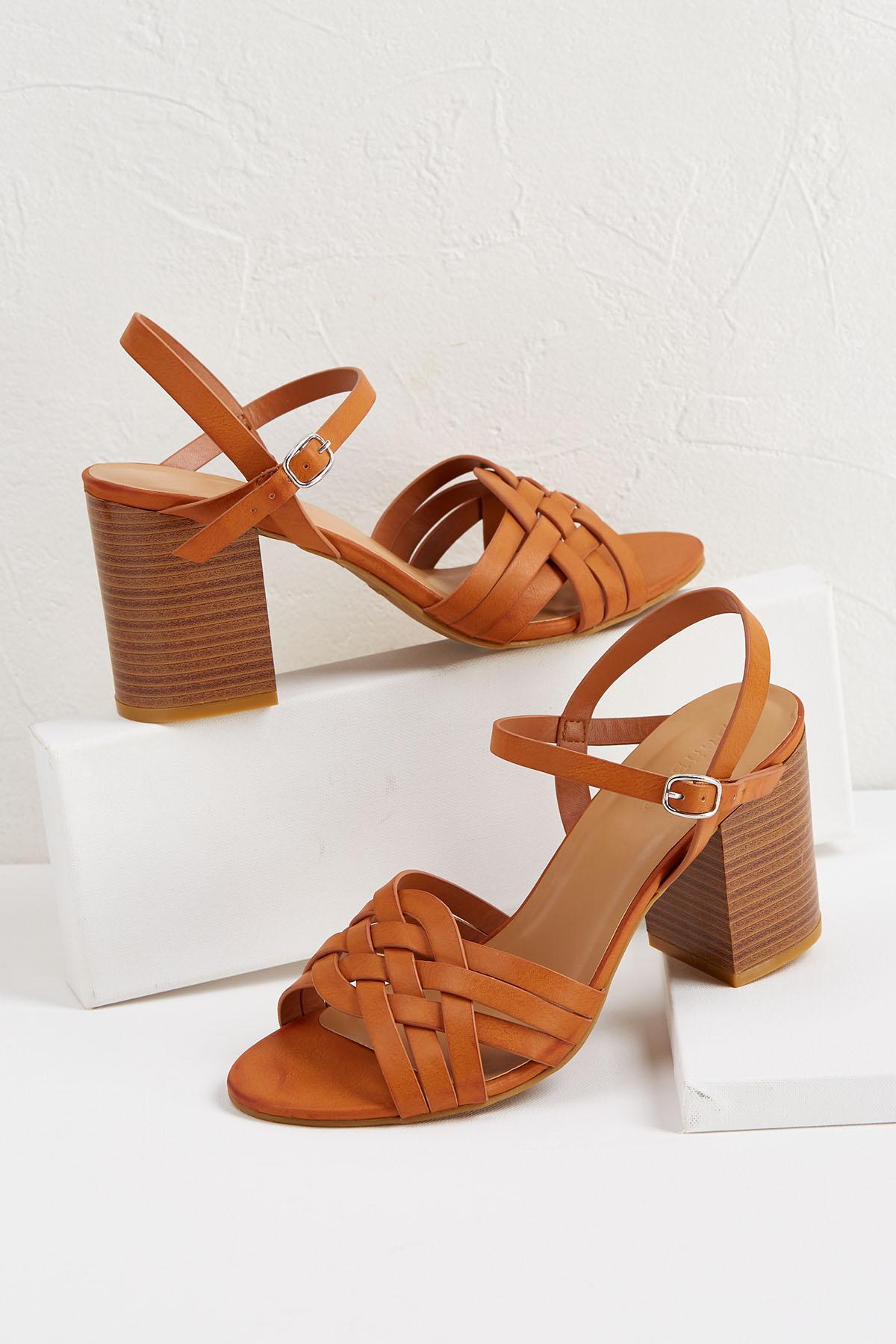 Braided Block Heel Sandals