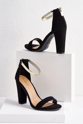 bracelet strap block heels