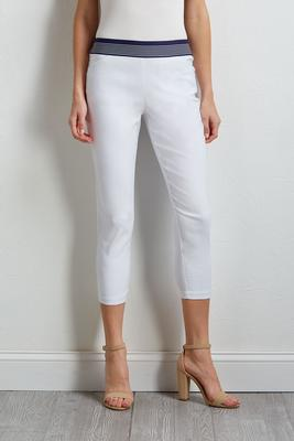 banded crop pants