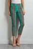 Green Stripe Ankle Pants