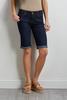 Rolled Bermuda Jean Shorts