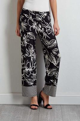 sketch floral palazzo pants
