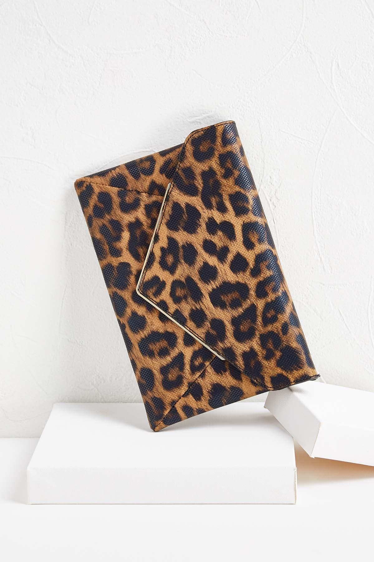 Leopard Envelope Clutch