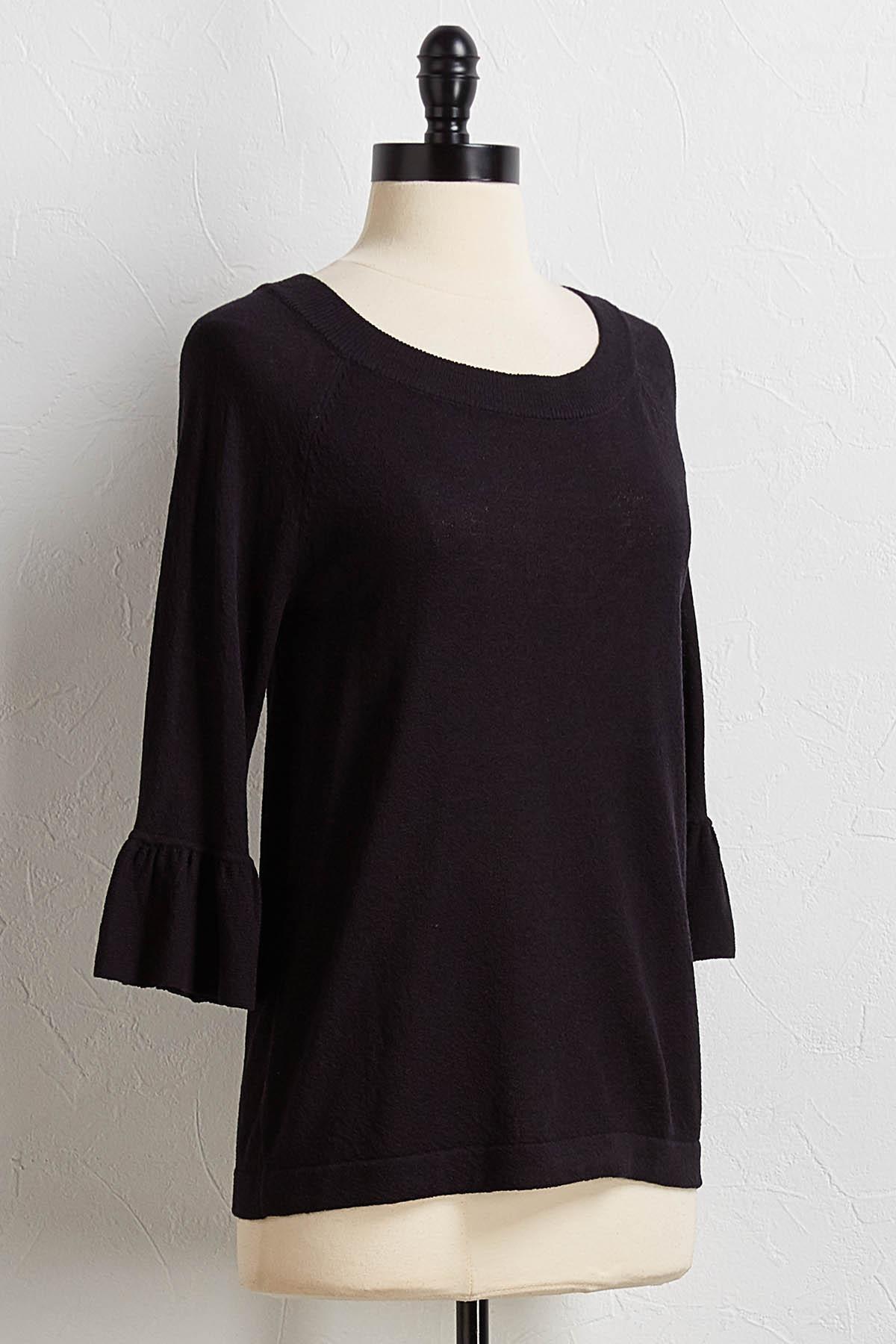Ruffled Sleeve Sweater
