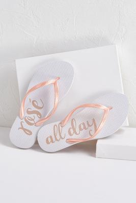 rose` all day flip-flops