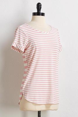 blush stripe tee