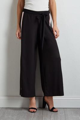 athletic stripe palazzo pants