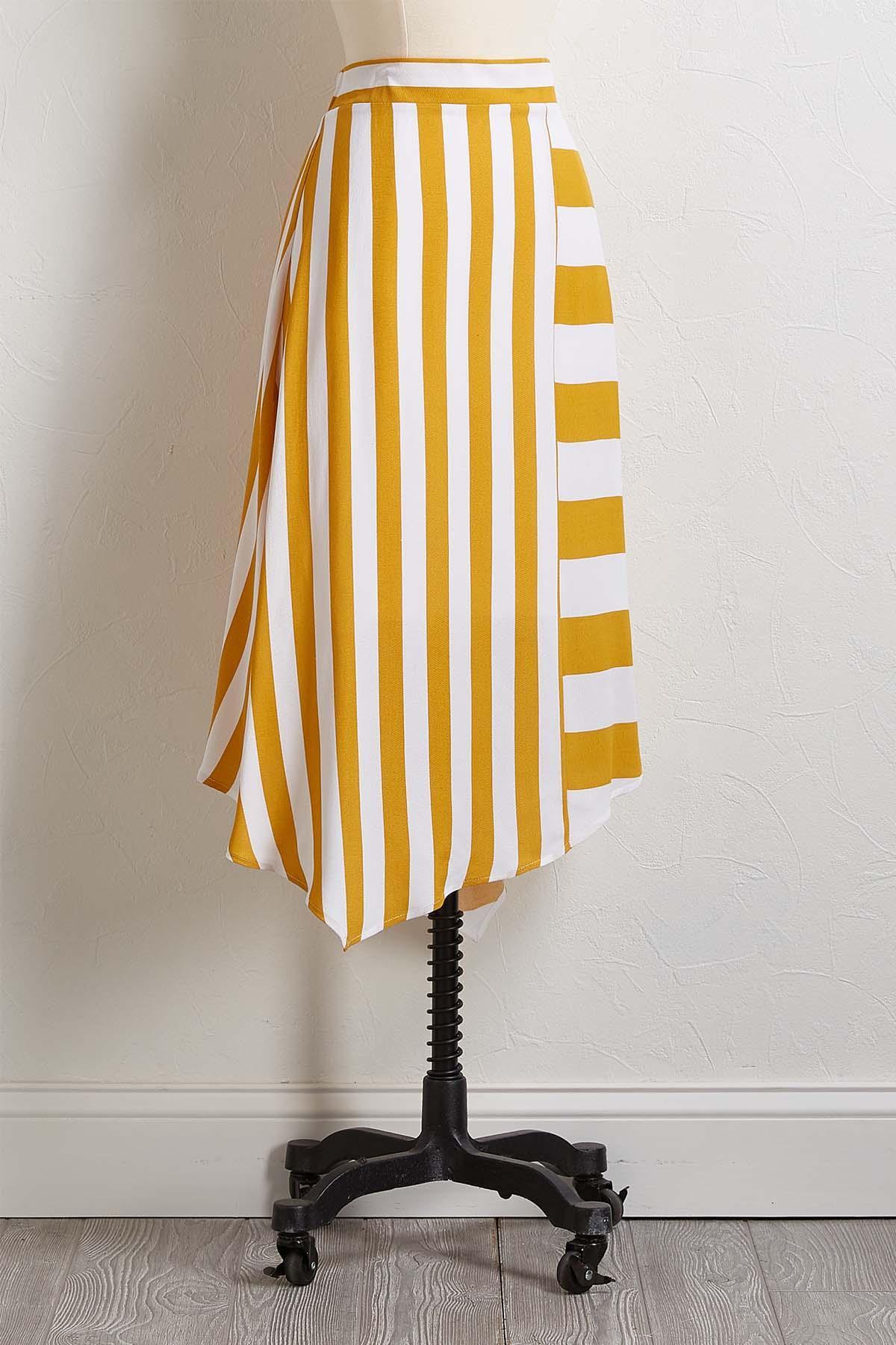 Golden Stripe Skirt