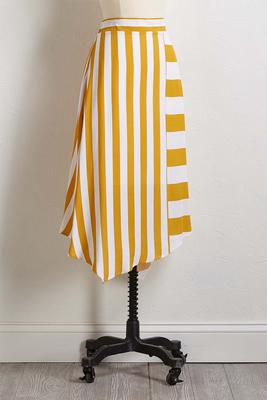 golden stripe skirt