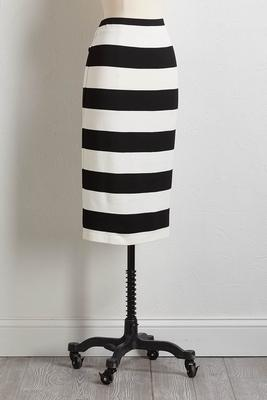 stripe ponte pencil skirt