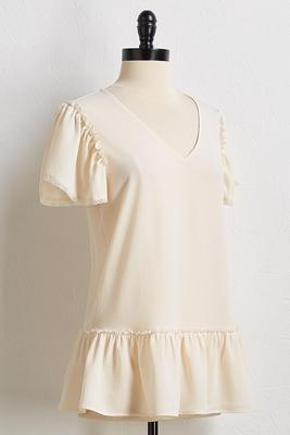 crepe ruffled top