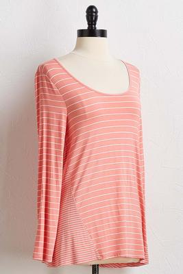 mixed stripe top
