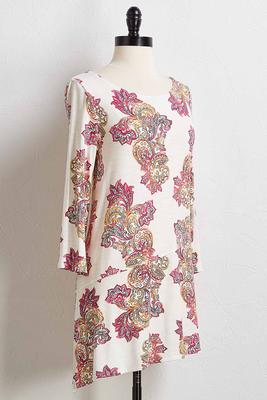 pink paisley tunic top
