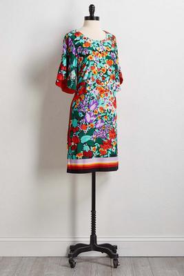 floral tulip sleeve dress