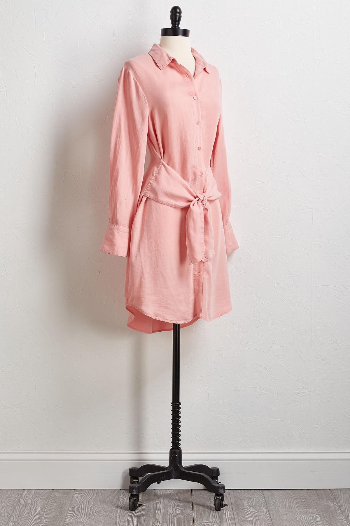 Tie Front Shirt Dress
