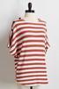 Stripe Button Sleeve Top