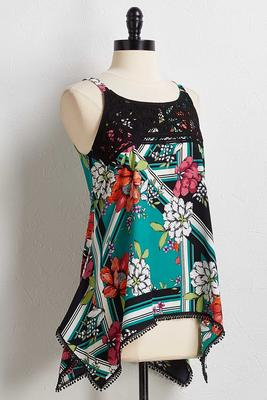 lacy floral tank